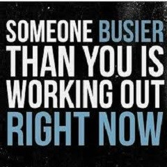 Someone Who Is Busy Than You Is Making Time For Workout